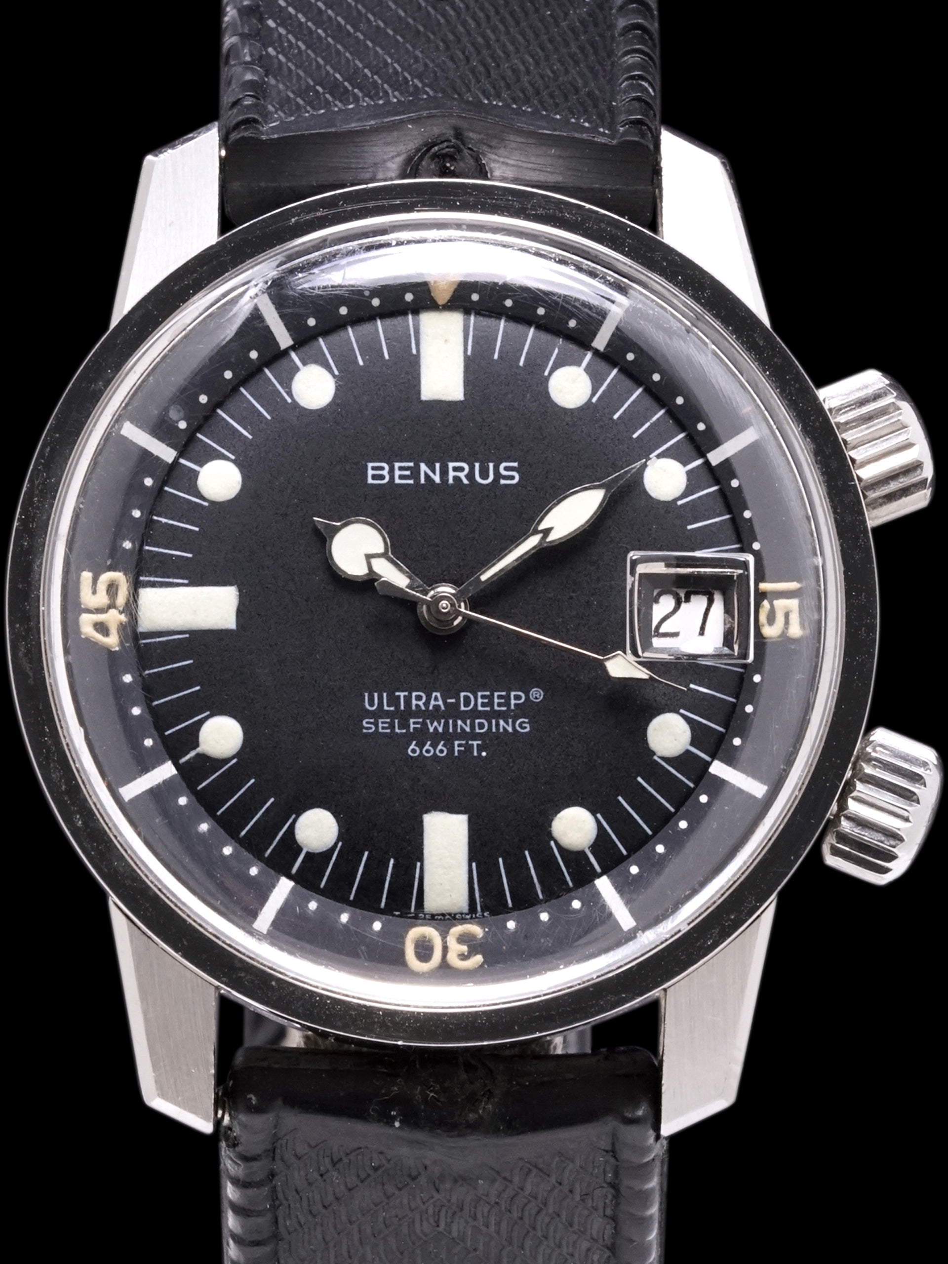 *Unpolished* 1960s Benrus Ultra-Deep (Ref. 6089) Super-Compressor