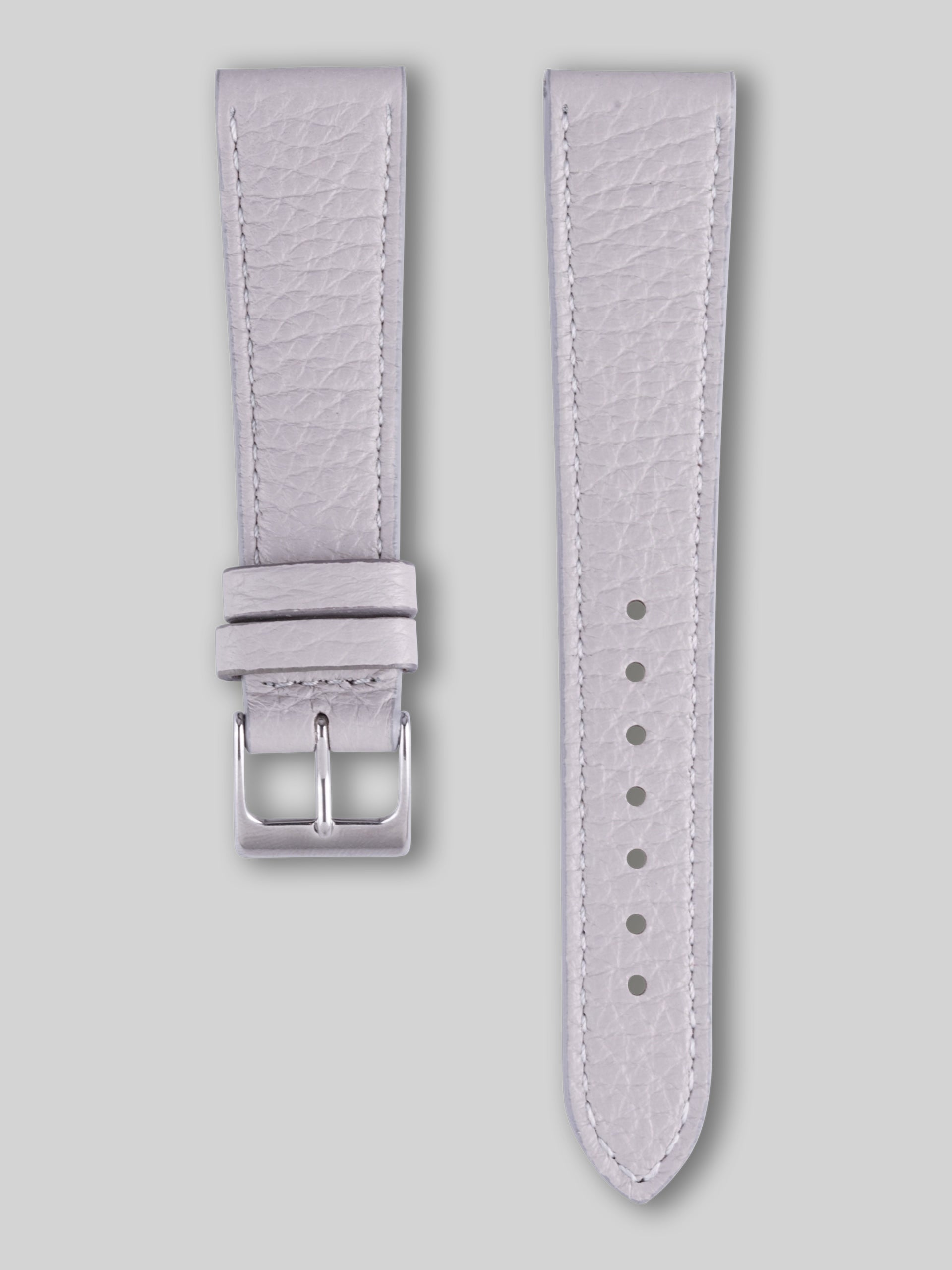 Textured Calfskin Watch Strap - Gainsboro