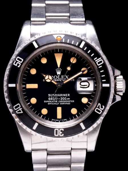 "Unpolished 1978 Rolex Submariner (Ref.1680) ""Pumpkin"""