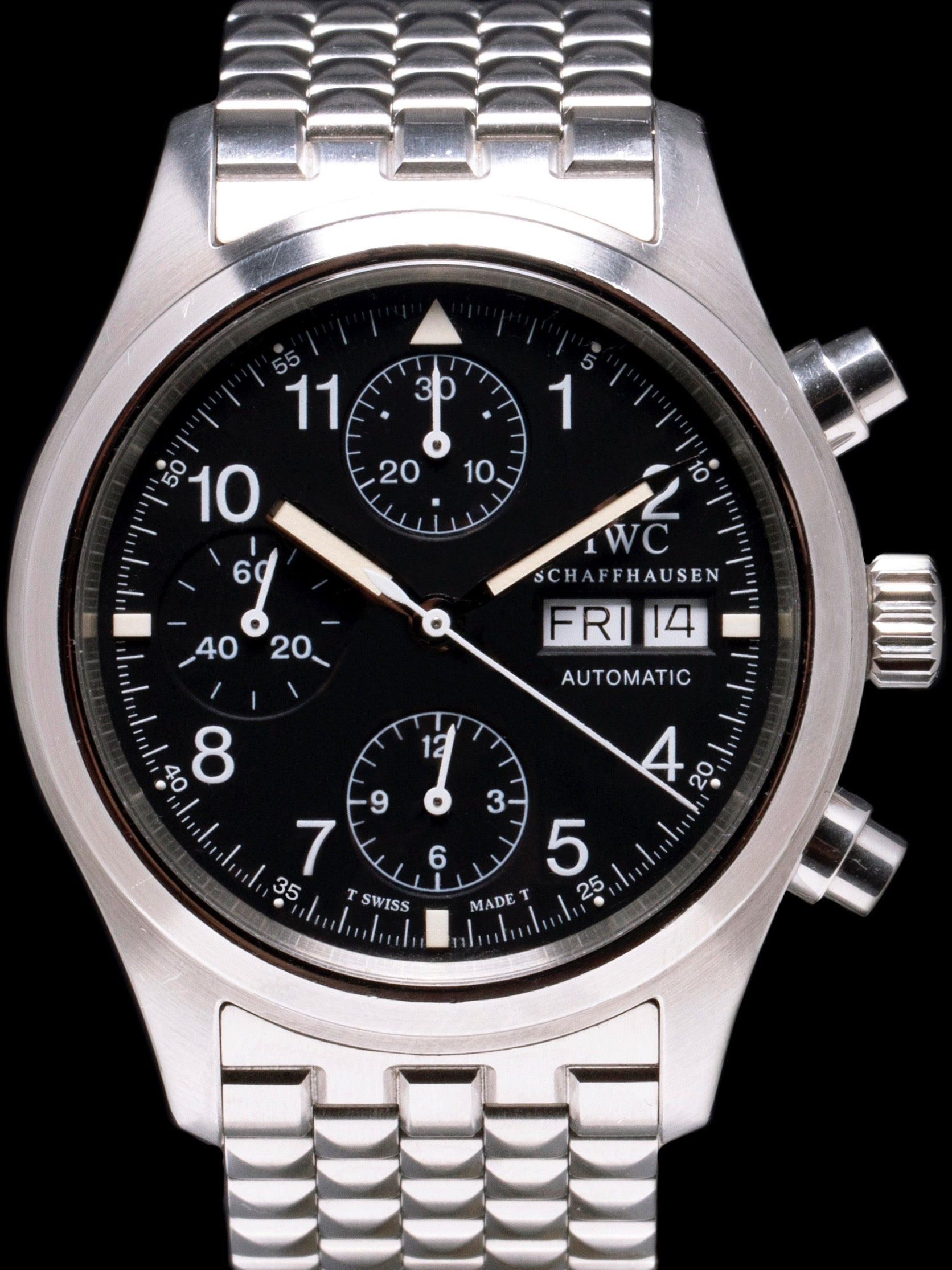 1990s IWC Flieger Chronograph (Ref. 3706) With Box and Papers