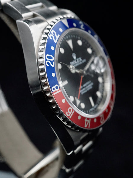 2008 Rolex GMT Master II Ref. 16710 (Rare Stick Dial) With Box And Papers