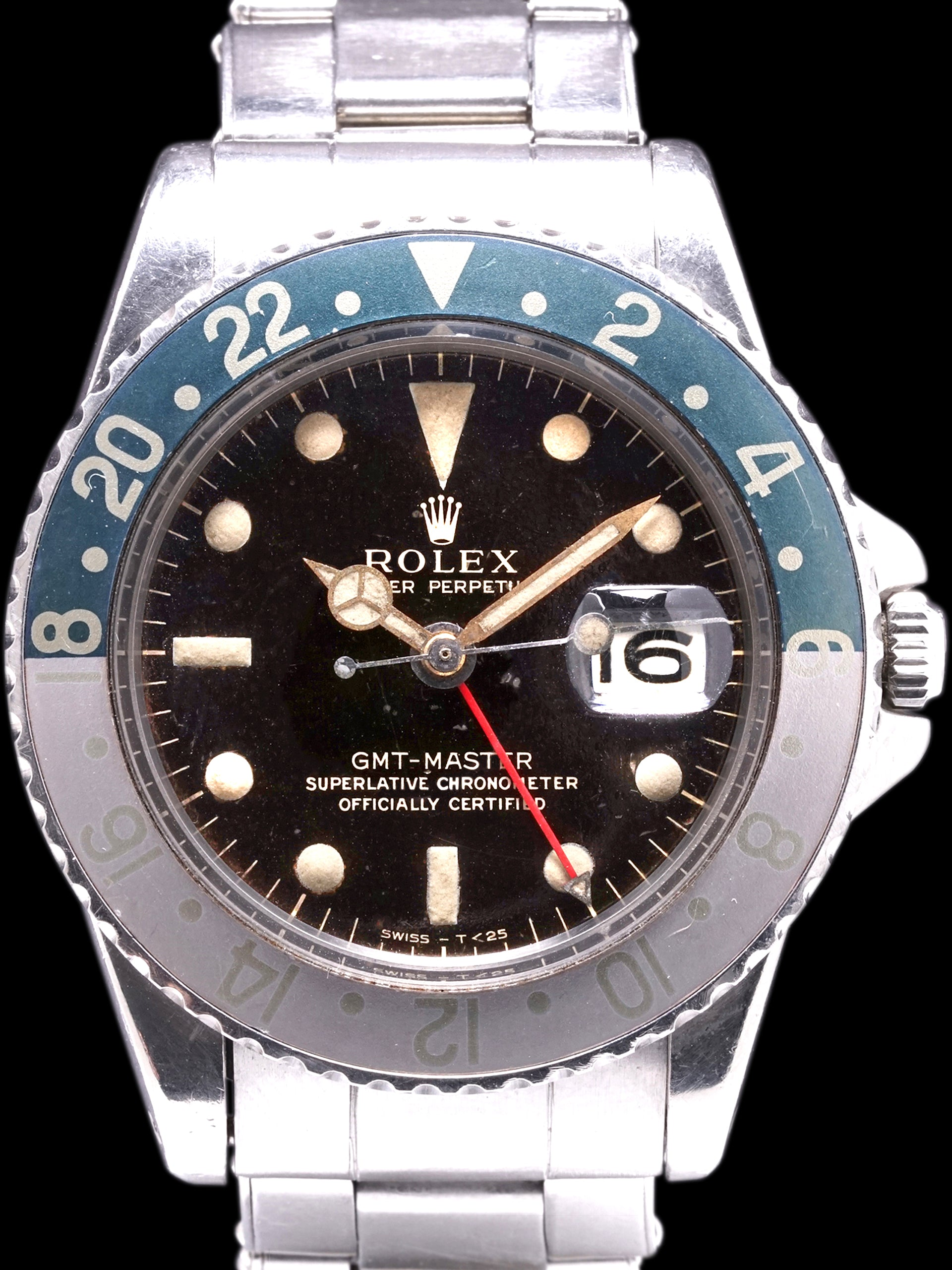 Tropical 1963 Rolex GMT-Master (Ref. 1675) Gilt PCG W/ RSC Papers, Box, & Military Provenance