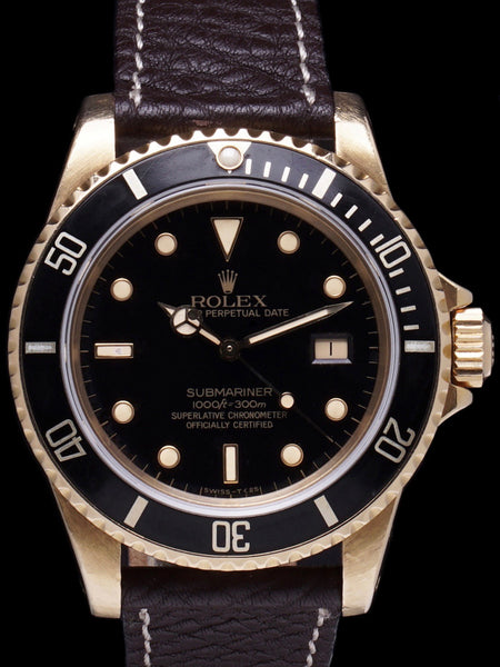 1981 Rolex Submariner (Ref. 16808) 18k YG