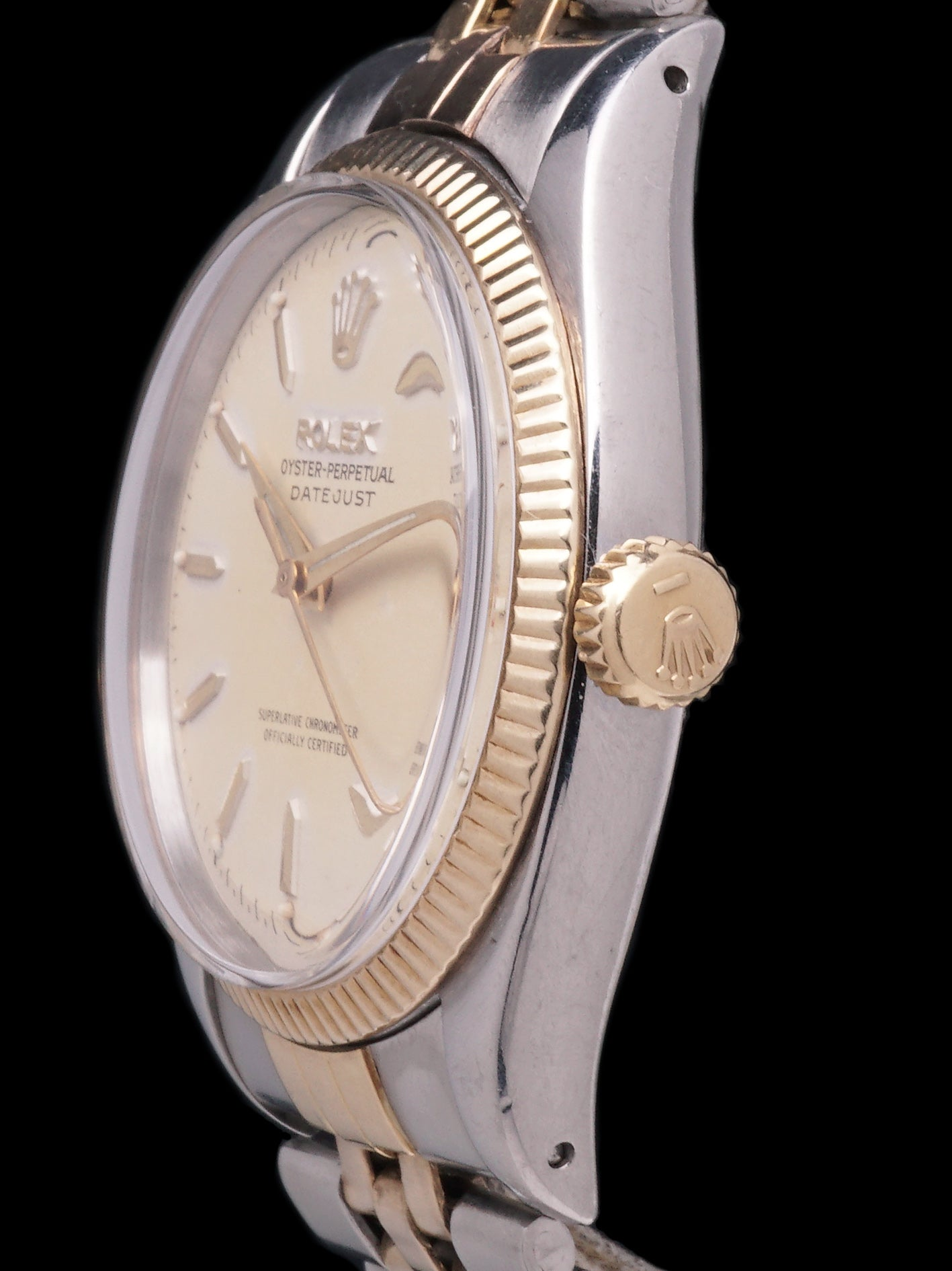 1957 Rolex Two-Tone Datejust (Ref. 6605) W/ Roulette Date Wheel