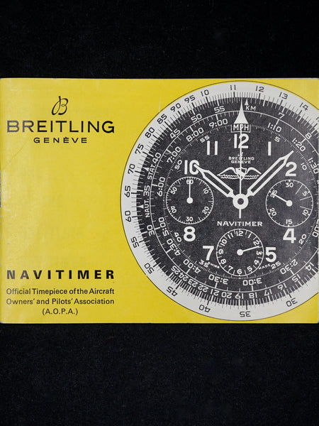 1966 Breitling Navitimer Ref. 806 AOPA Gilt Dial W/ Wakkman Box and Pamphlet