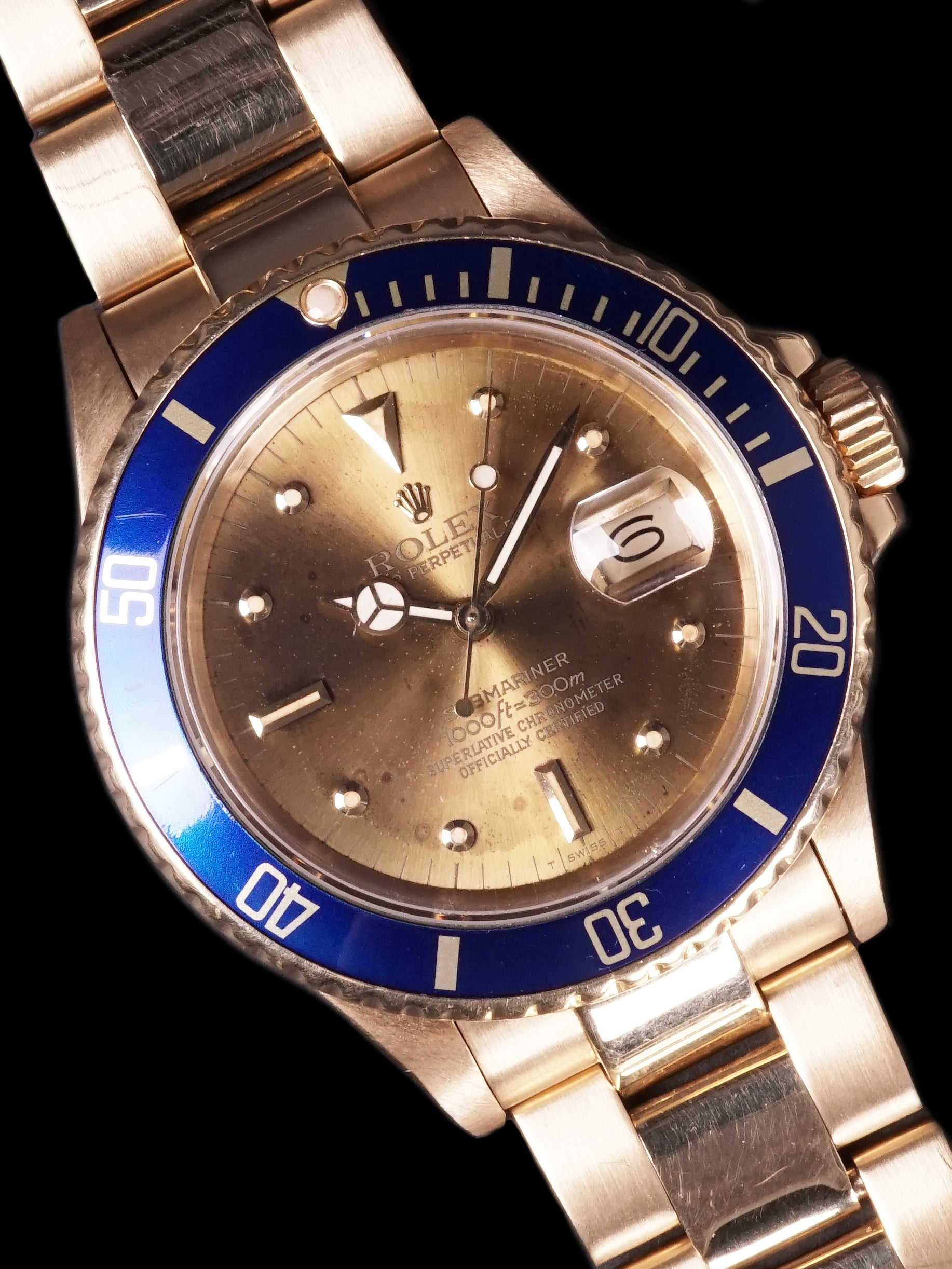 "1987 Rolex 18k YG Submariner (Ref. 16808) ""Tropical Champagne Dial"""