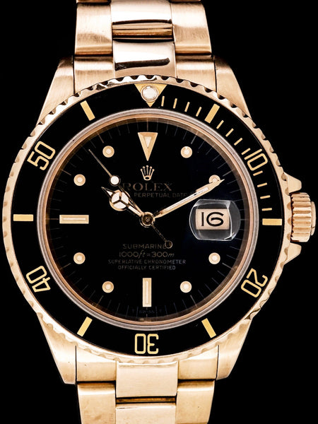 1987 Rolex Submariner (Ref. 16808) 18k YG