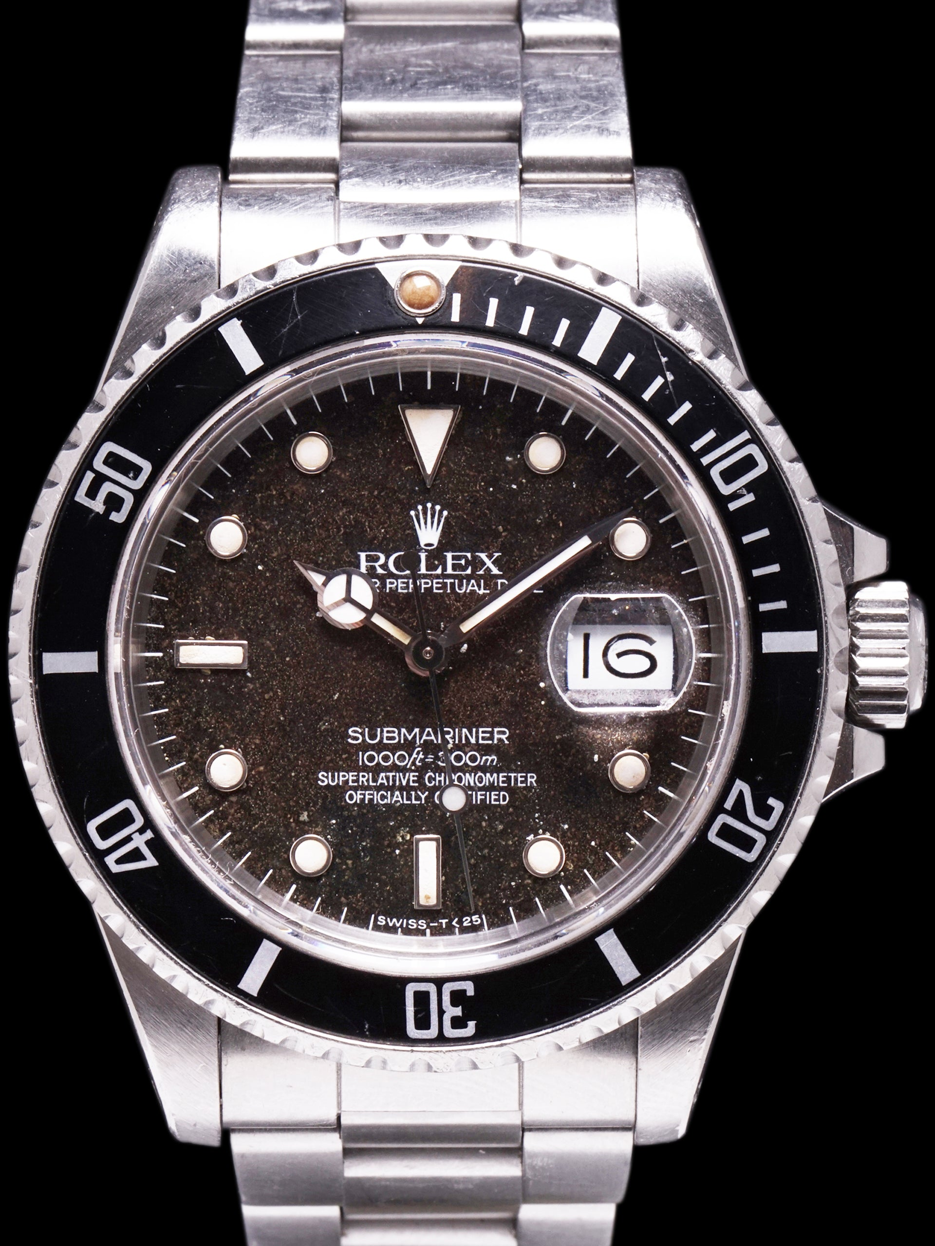 "1987 Rolex Submariner (Ref.16800A) Rare Transitional Model ""Tropical"" w/ Box and Papers"