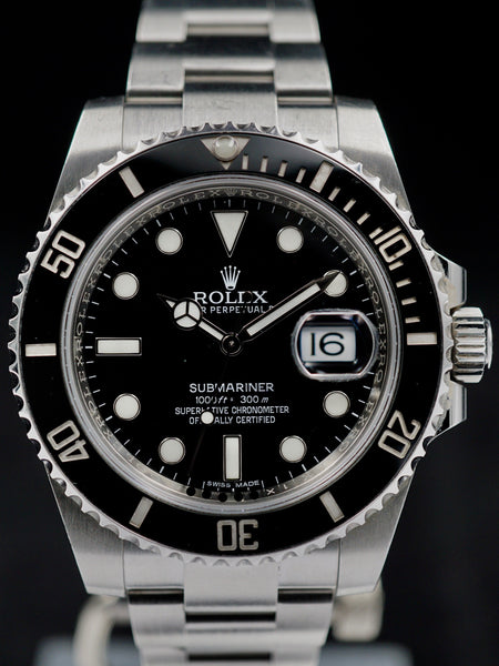 2016 Rolex Submariner Date Ref. 116610LN w/ Box and Papers