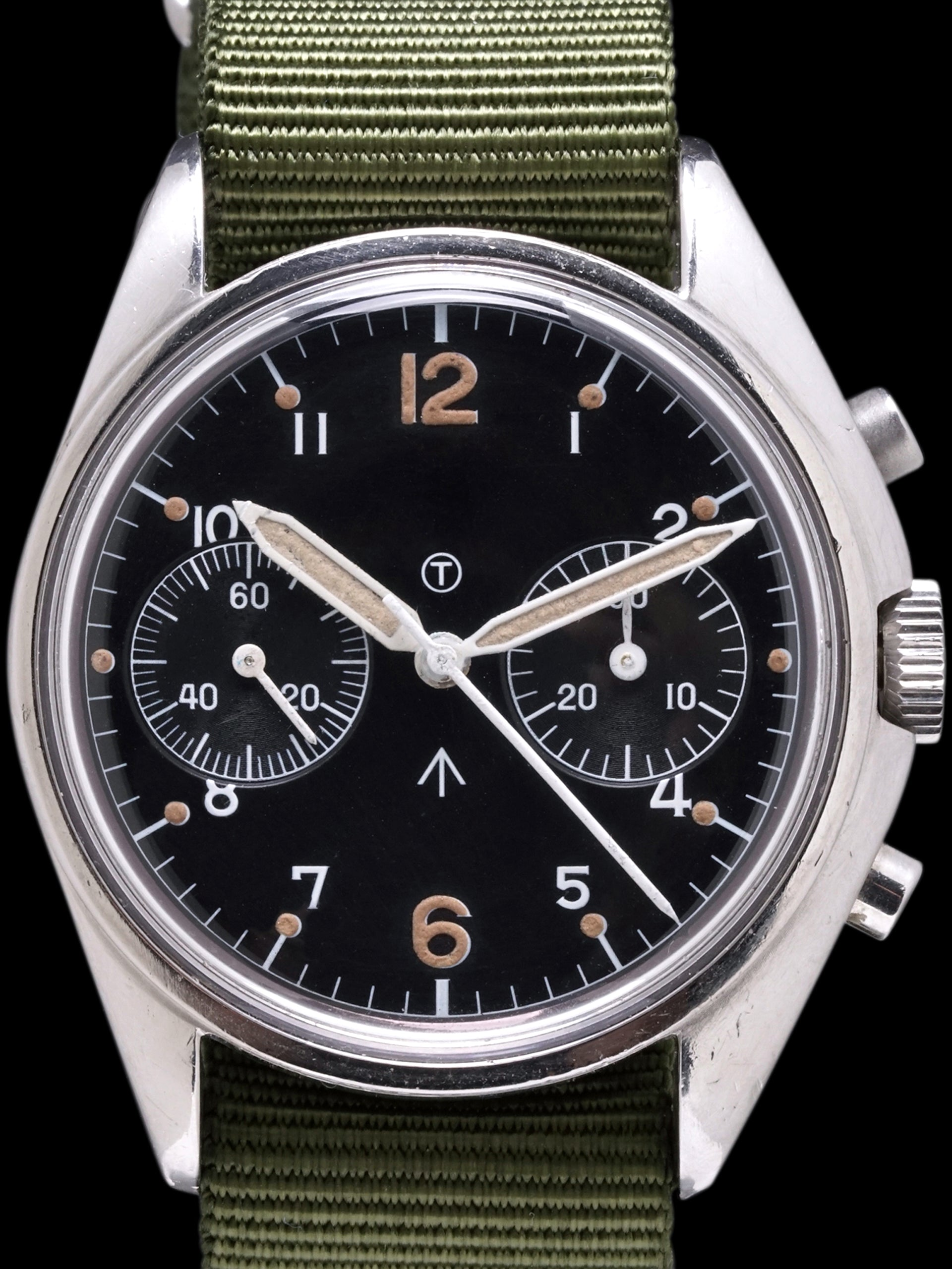 "1973 CWC Royal Navy Pilots Chronograph ""Sterile Dial"""