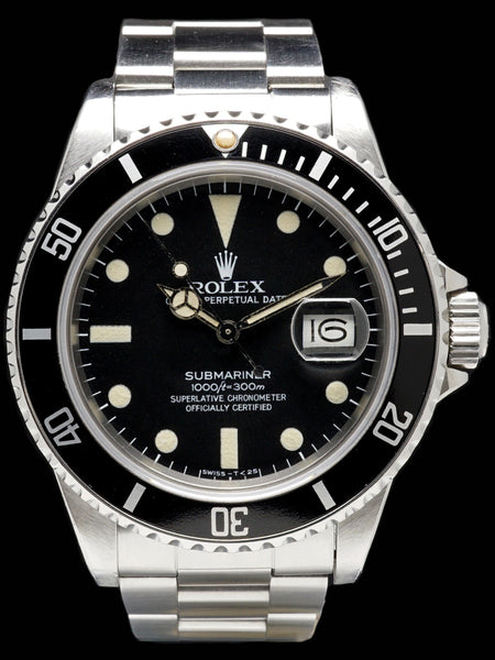 1982 Rolex Submariner (Ref.16800) Matte Dial With Box & Papers
