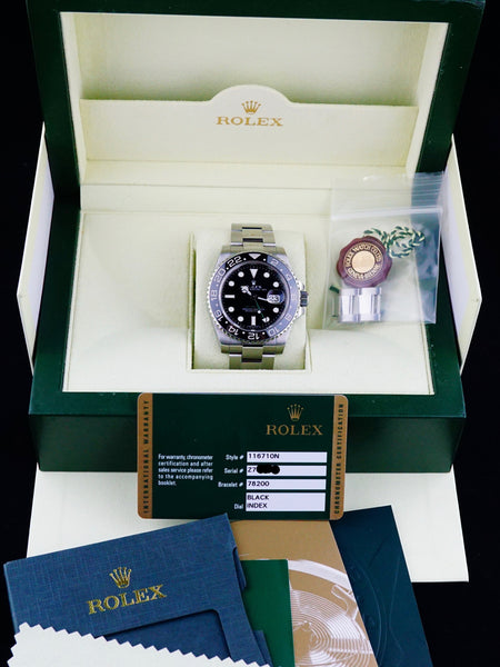 2007 Rolex GMT II 116710 with Box and Papers