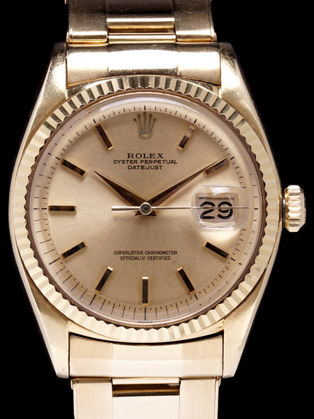 "1961 Rolex Datejust (Ref. 1601) 18K YG ""Swiss Only"" No-Lume Dial"