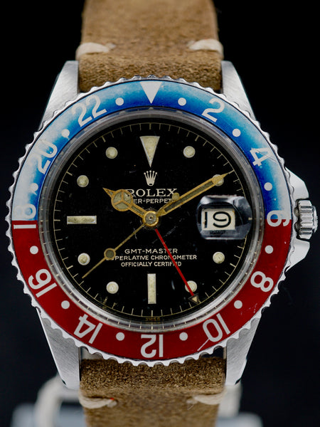 1960 Rolex GMT Master (Ref. 1675) GILT Chapter Ring Dial w/ PCG