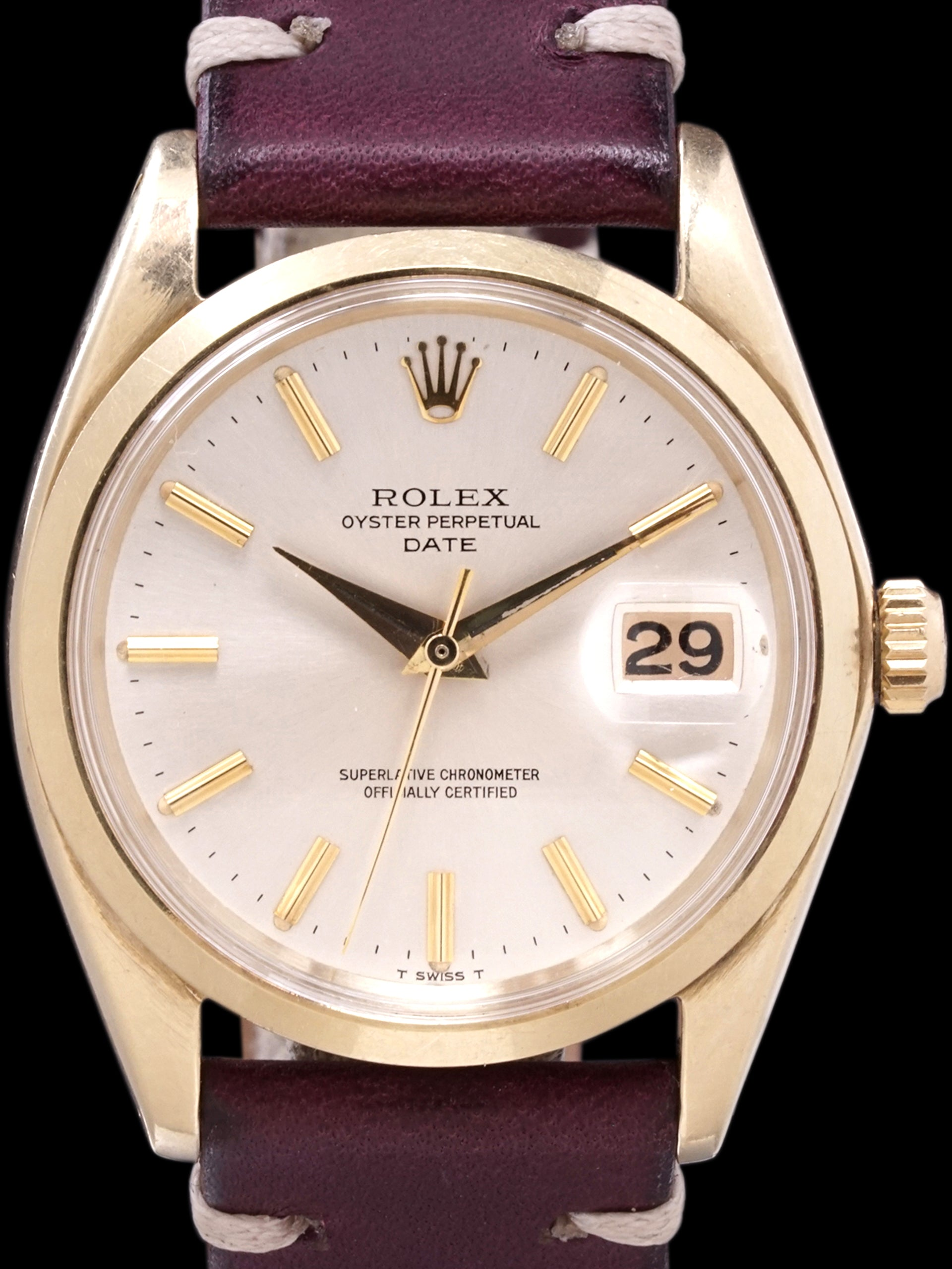 1965 Rolex Oyster-Perpetual Date (Ref. 1500) 14k YG