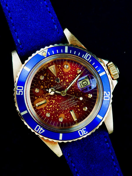 "1979 Rolex YG Submariner 1680 with Tropical ""HOT LAVA"" Dial"