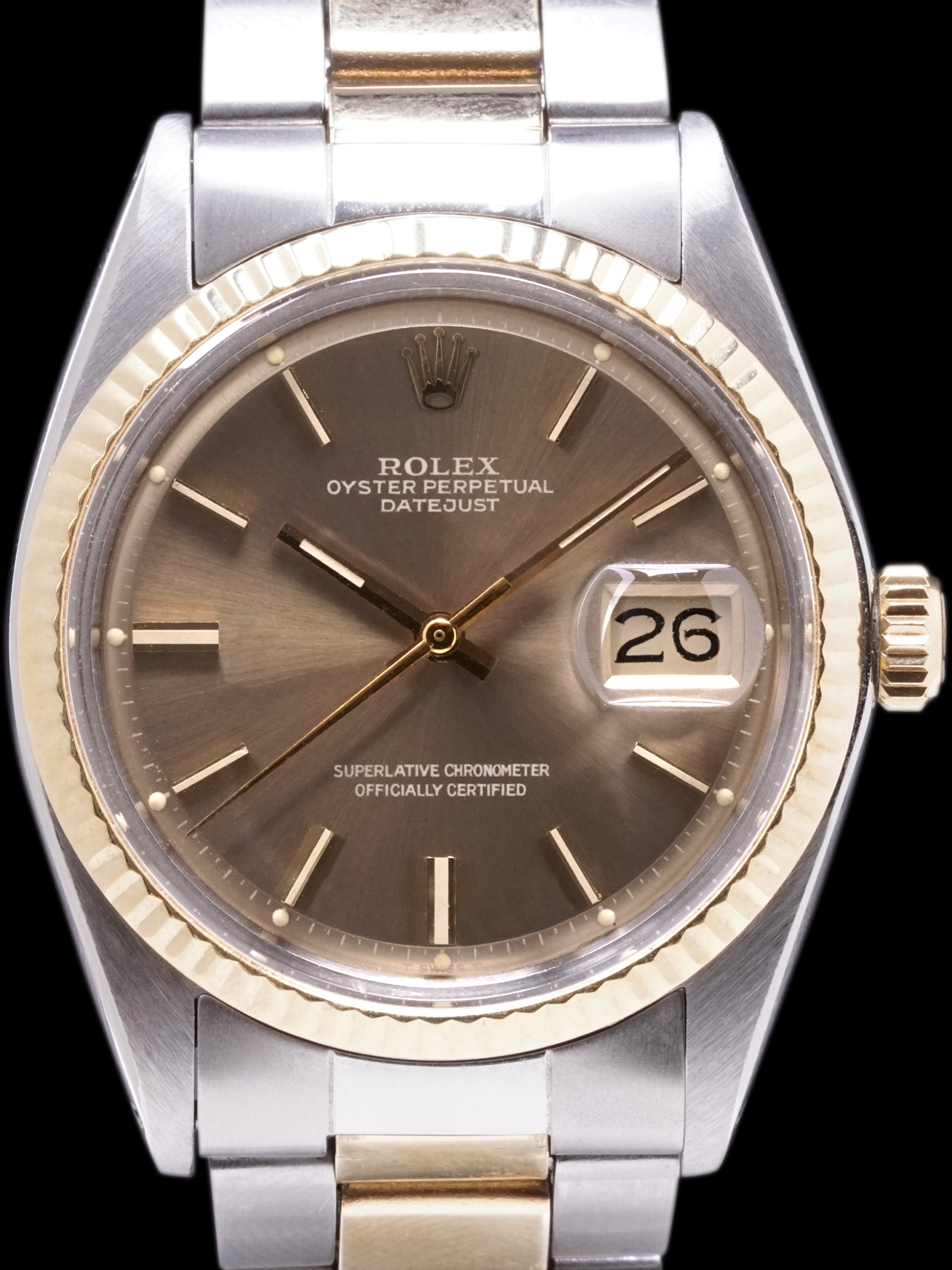 1973 Rolex Two-Tone Datejust (Ref. 1601) W/ Box, Papers, & RSC Paper