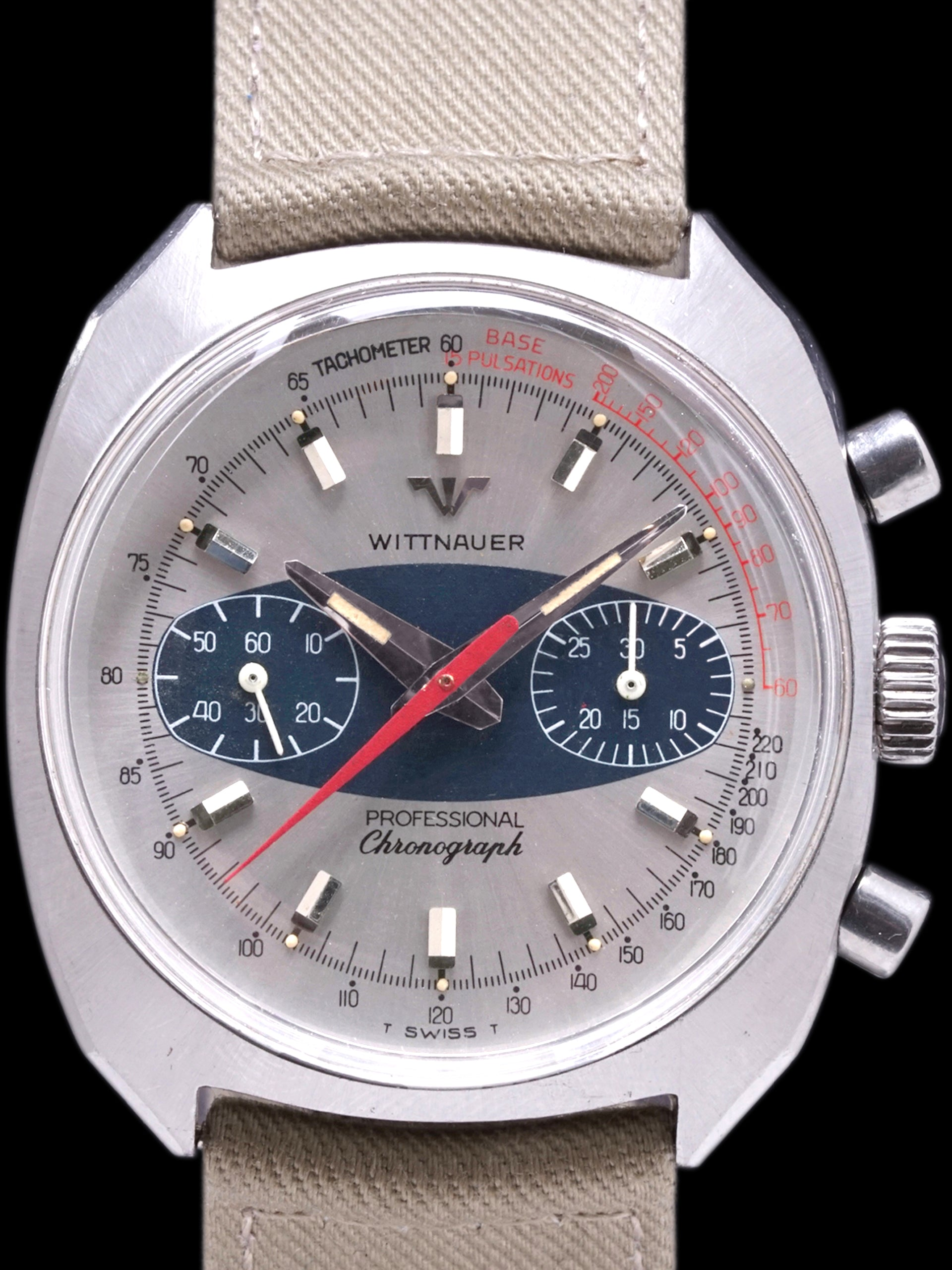 "1960s Wittnauer Professional Chronograph (Ref. 247T) ""Surfboard Dial"""
