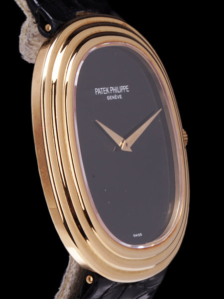 1977 Patek Philippe Ellipse (Ref. 3634J) 18K YG Onyx Dial With Box and Archive