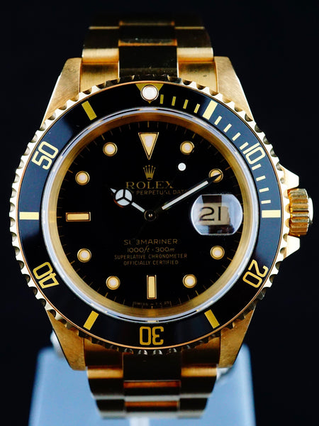 1990 Rolex YG Submariner Ref. 16618
