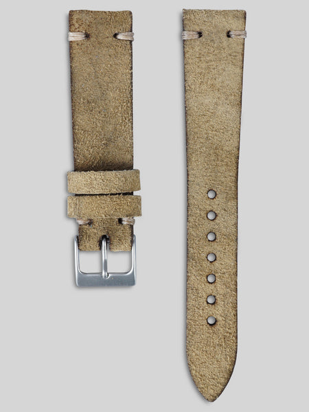 Vintage Style Suede Watch Strap - Dusty