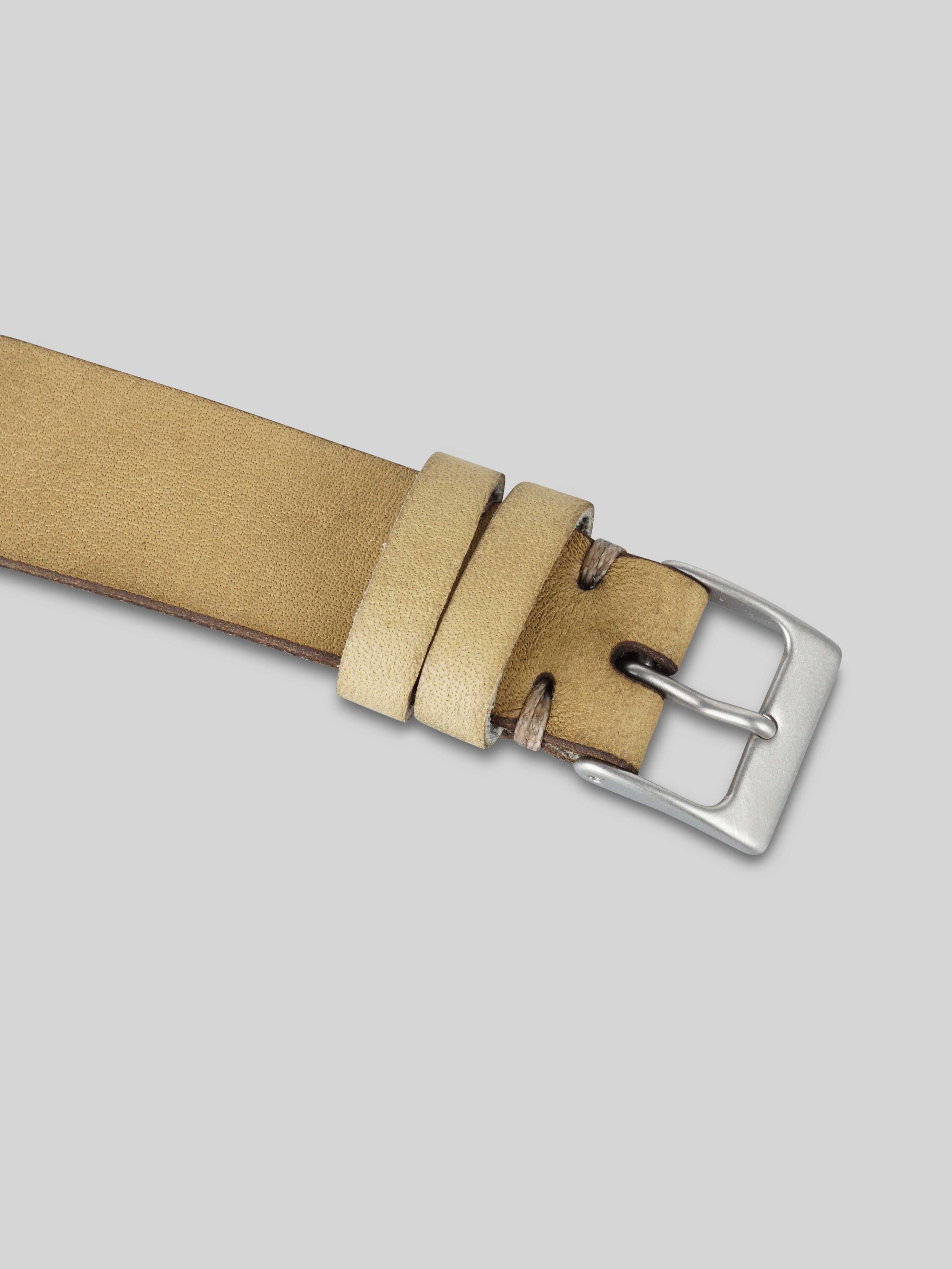 Oiled Leather Watch Strap - Sand