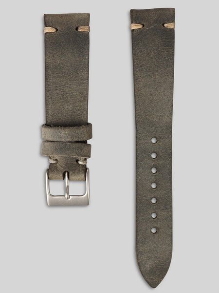 Oiled Leather Watch Strap - Slate