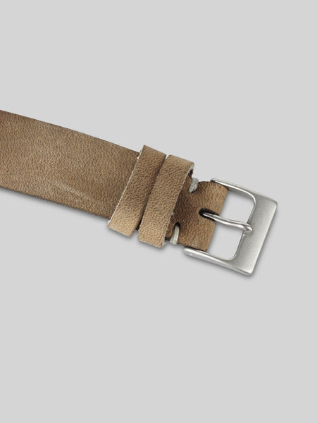 Oiled Leather Watch Strap - Taupe