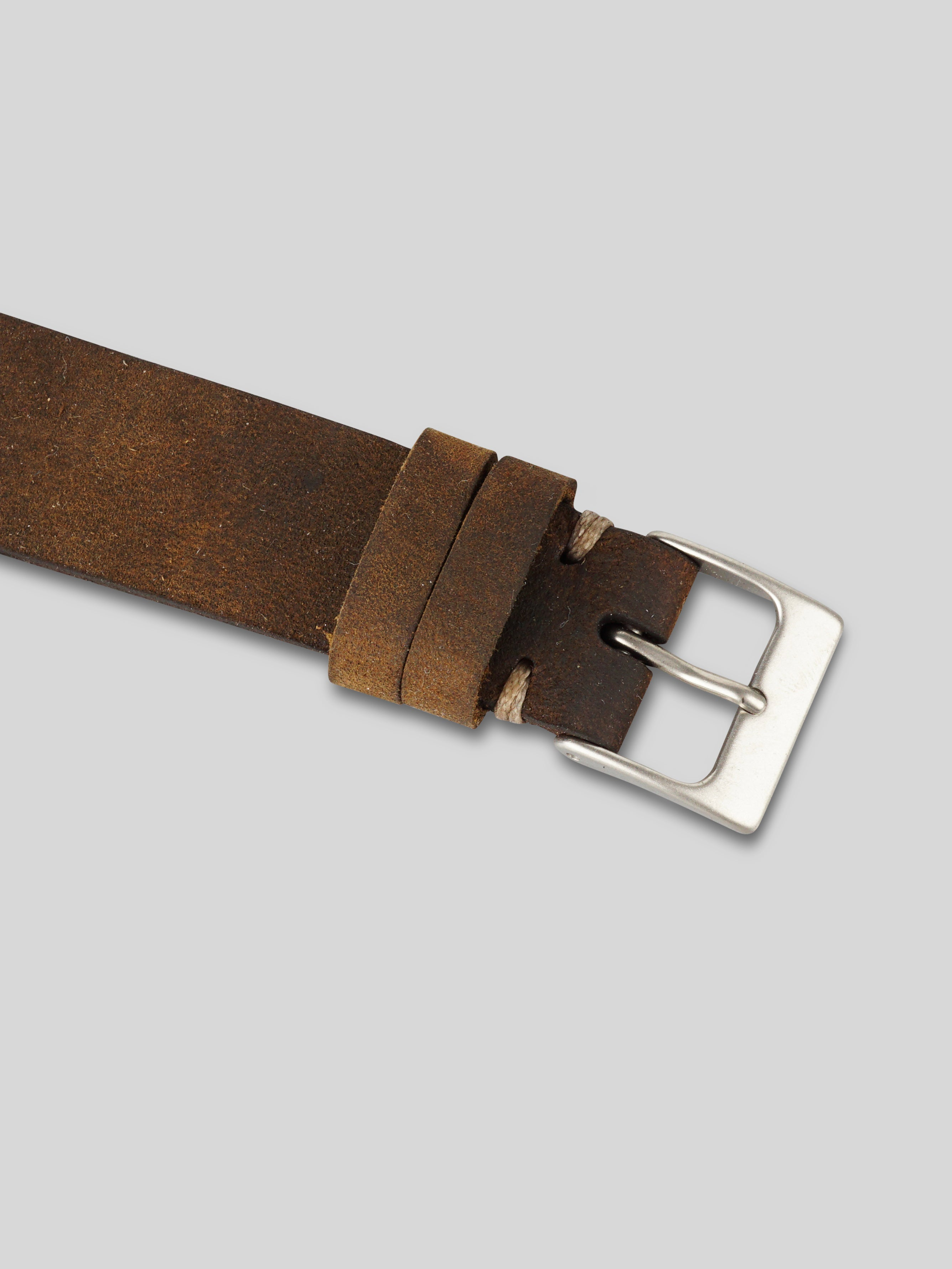Oiled Leather Watch Strap - Brown