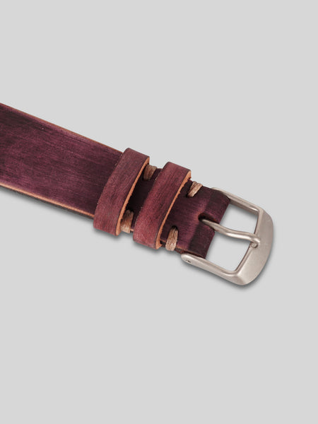 Horween Shell Cordovan Watch Strap N.08 (Brown Distressed)