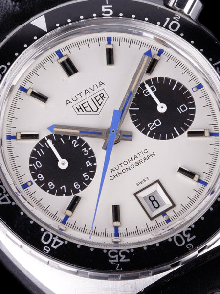"1972 Heuer Autavia (Ref. 1163) ""Jo Siffert Mk. VI"" W/ Extra Bezel And Original Beads Of Rice Bracelet"