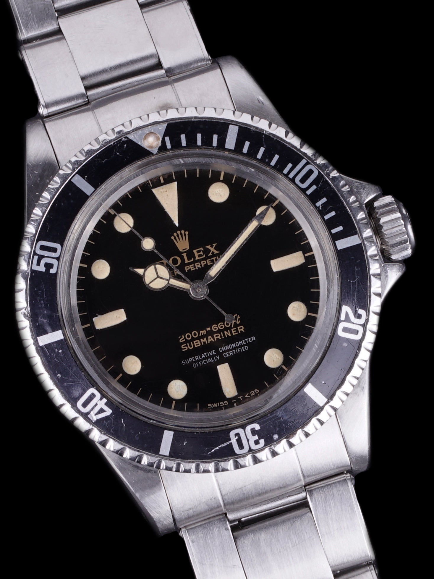 1966 Rolex Submariner (Ref. 5512) Two Color Gilt Dial