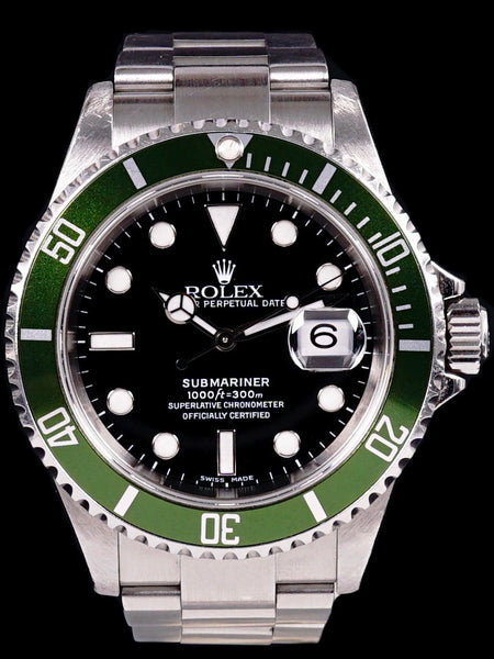 F- Serial 2004 Rolex Green Submariner (Ref. 16610LV) Mk.2 W/ Box and Booklets
