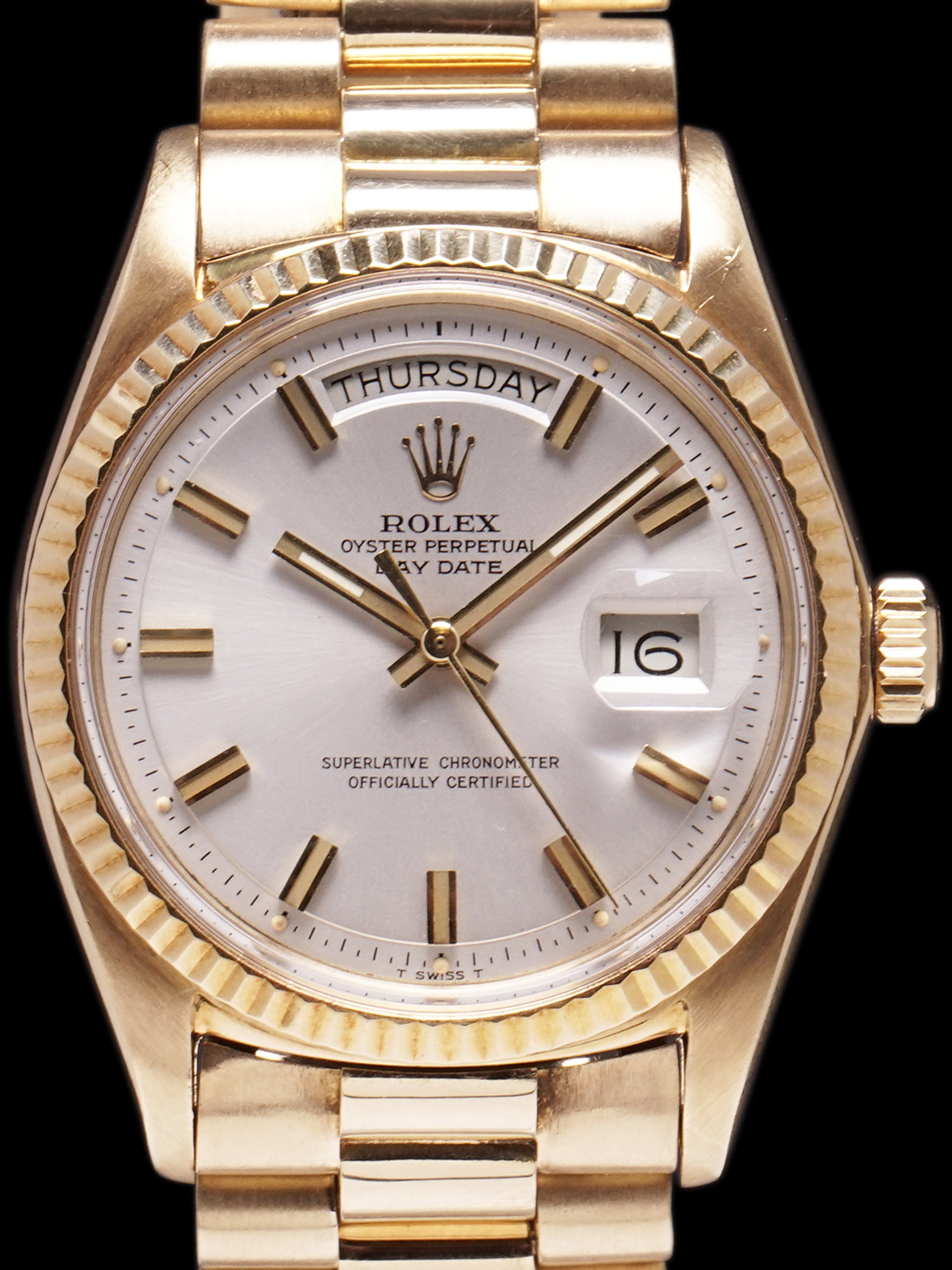 "1971 Rolex Day-Date (Ref. 1803) 18K YG ""Wide Boy"""