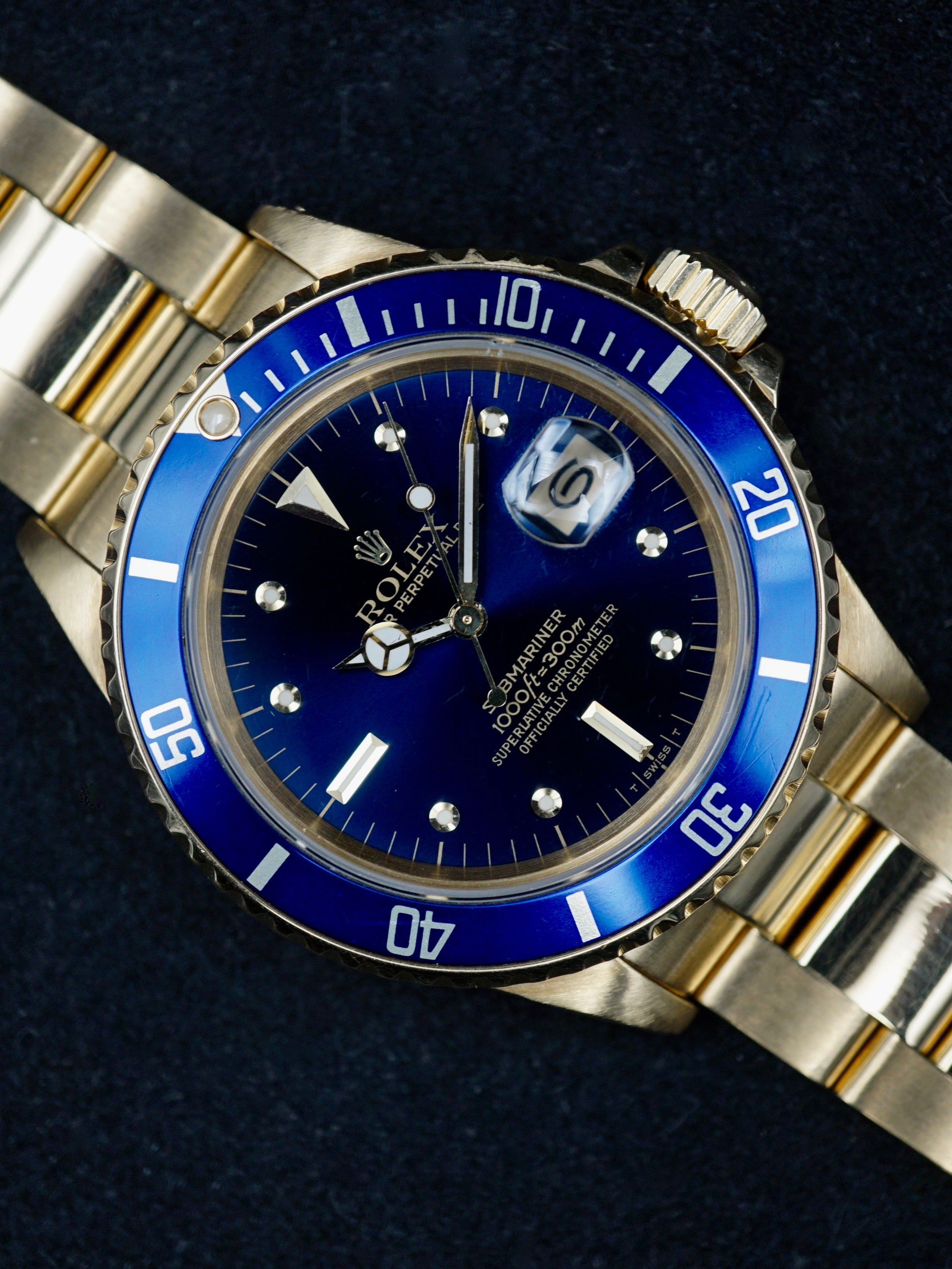 1987 Rolex 18k YG Submariner Ref. 16808