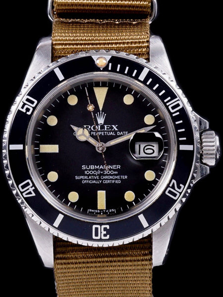 1983 Rolex Submariner Ref.16800 Matte Dial Unpolished