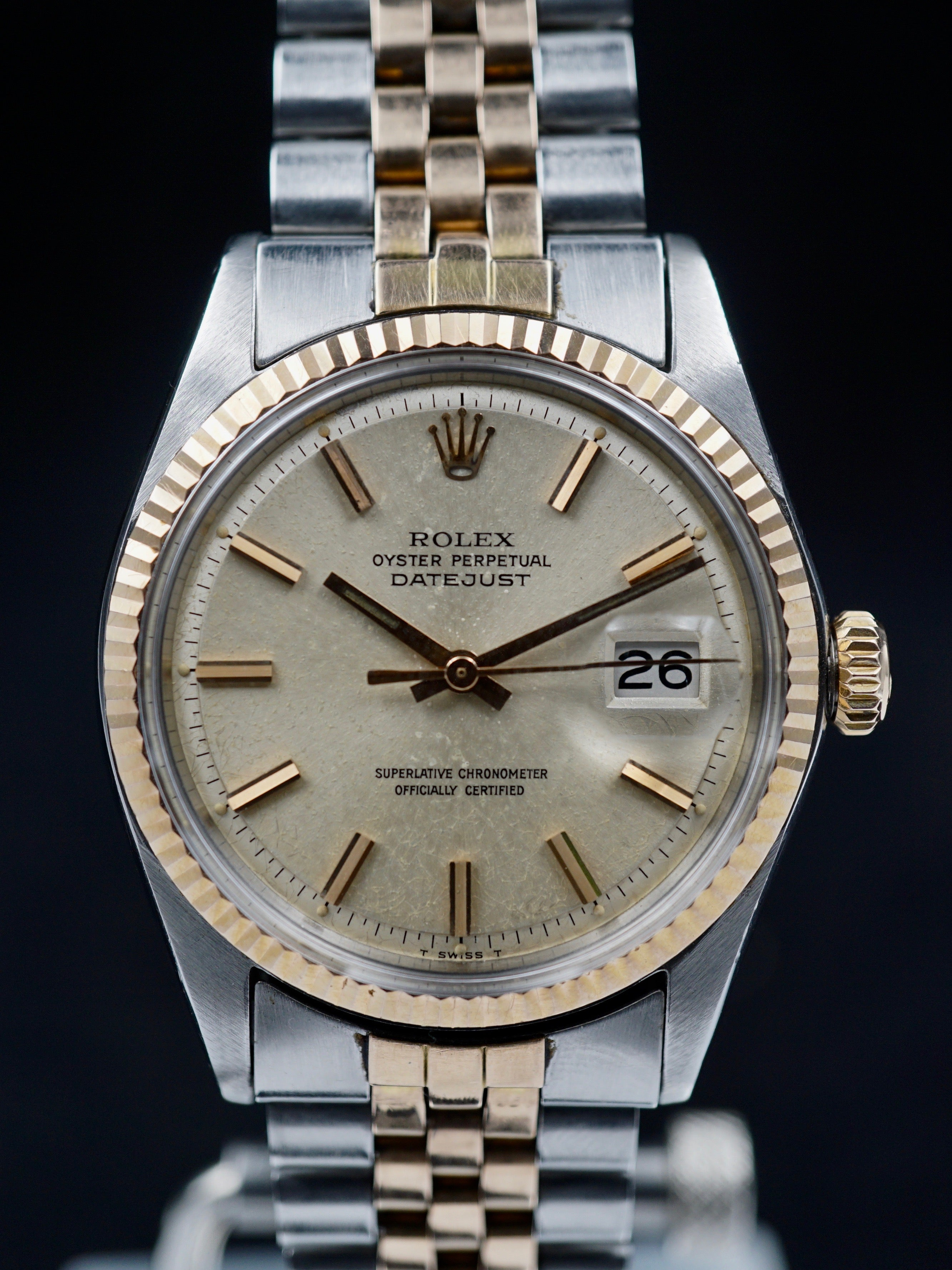 1971 Rolex Datejust Rose Gold & Stainless Steel (Ref. 1601) W/ Box and Papers
