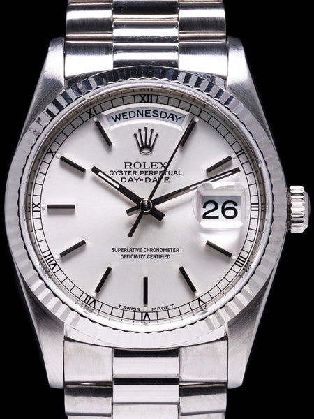 1999 Rolex Day-Date 18k WG (Ref. 18239) W/ Papers