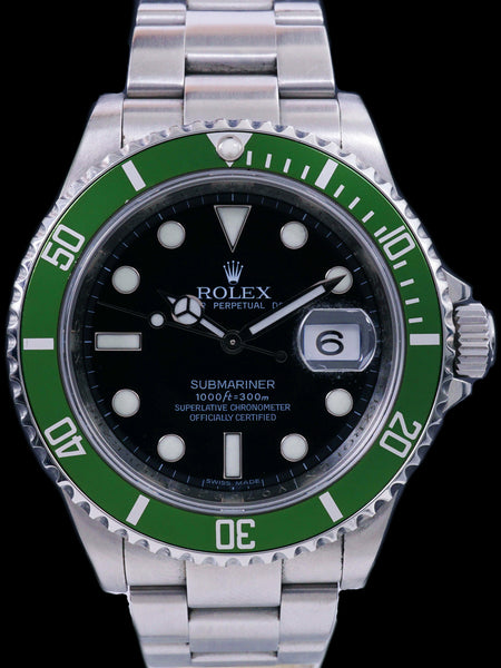 "2008 Rolex ""Kermit"" Green Submariner Ref. 16610LV 50th Anniversary"