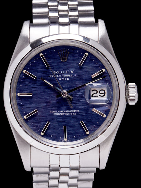 1971 Rolex Oyster Perpetual Date (Ref. 1500) Blue Mosaic Dial