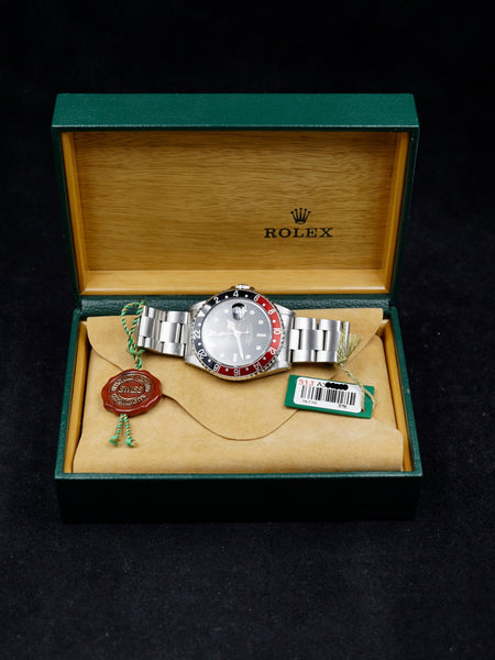 "1999 Rolex GMT Master II Ref. 16710 ""Coke Insert"" Box Papers & Rolex Service Documents"