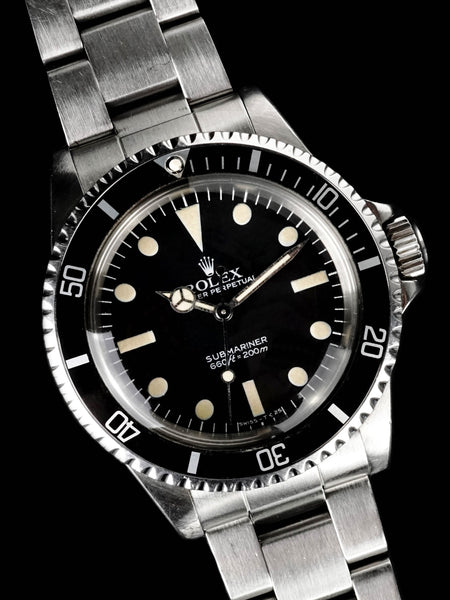 1982 Rolex Submariner (Ref. 5513) Mk. V Maxi Dial With Box, Papers, and RSC Papers