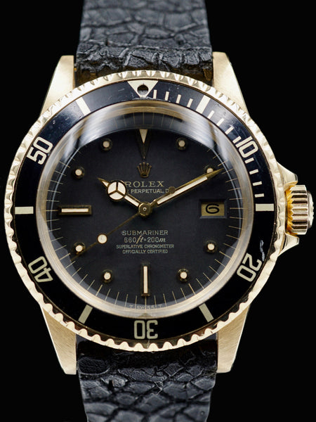 "1979 Rolex Submariner (Ref. 1680) 18k YG ""Unpolished Case"""