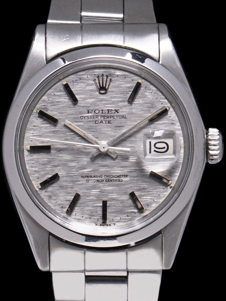 1971 Rolex Oyster-Perpetual Date (Ref. 1500) Silver Mosaic Dial