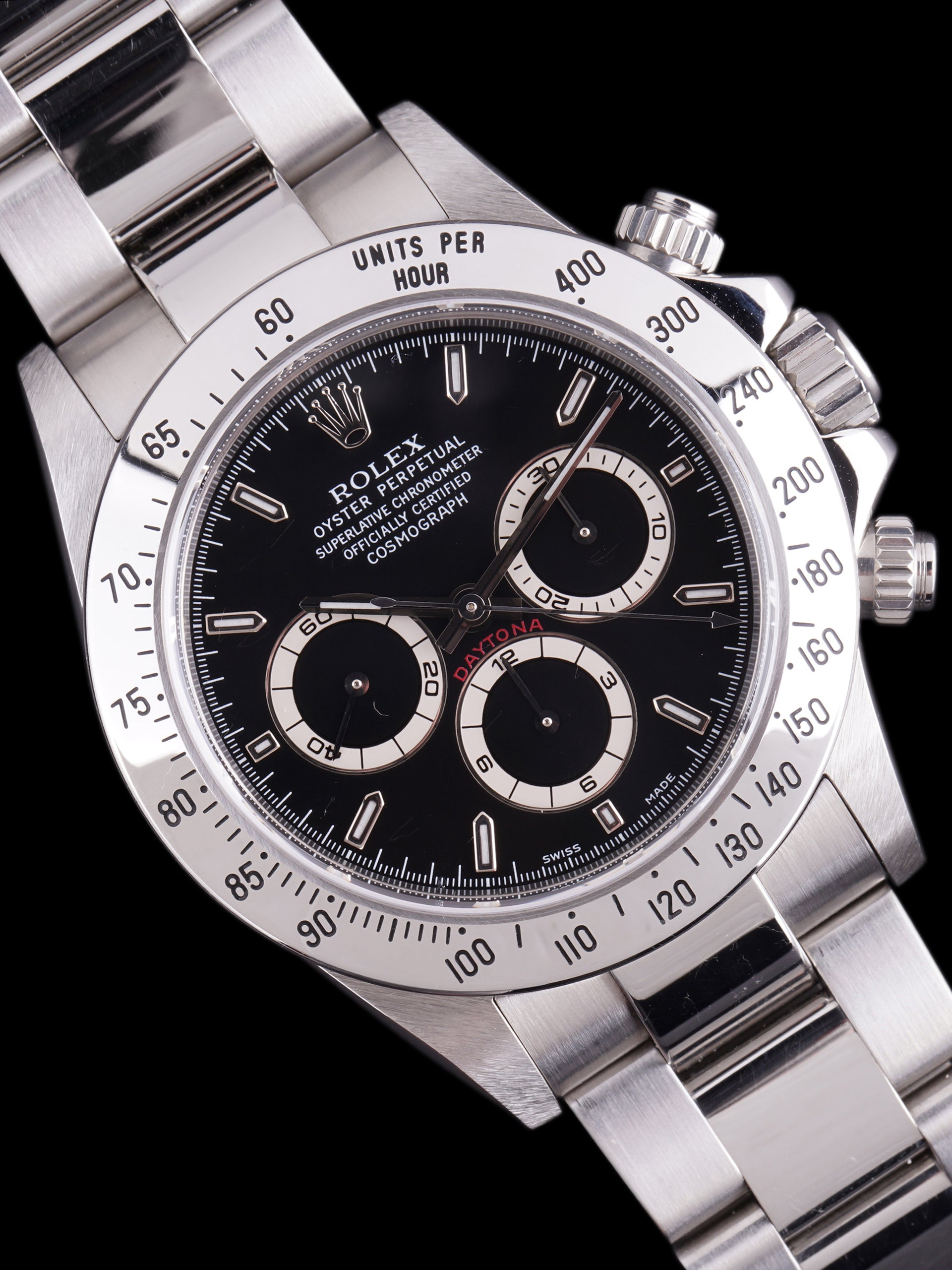 "*Like New* 1999 Rolex Daytona (Ref. 16520) Black Dial ""Mk. V"" W/ Guarantee Paper"