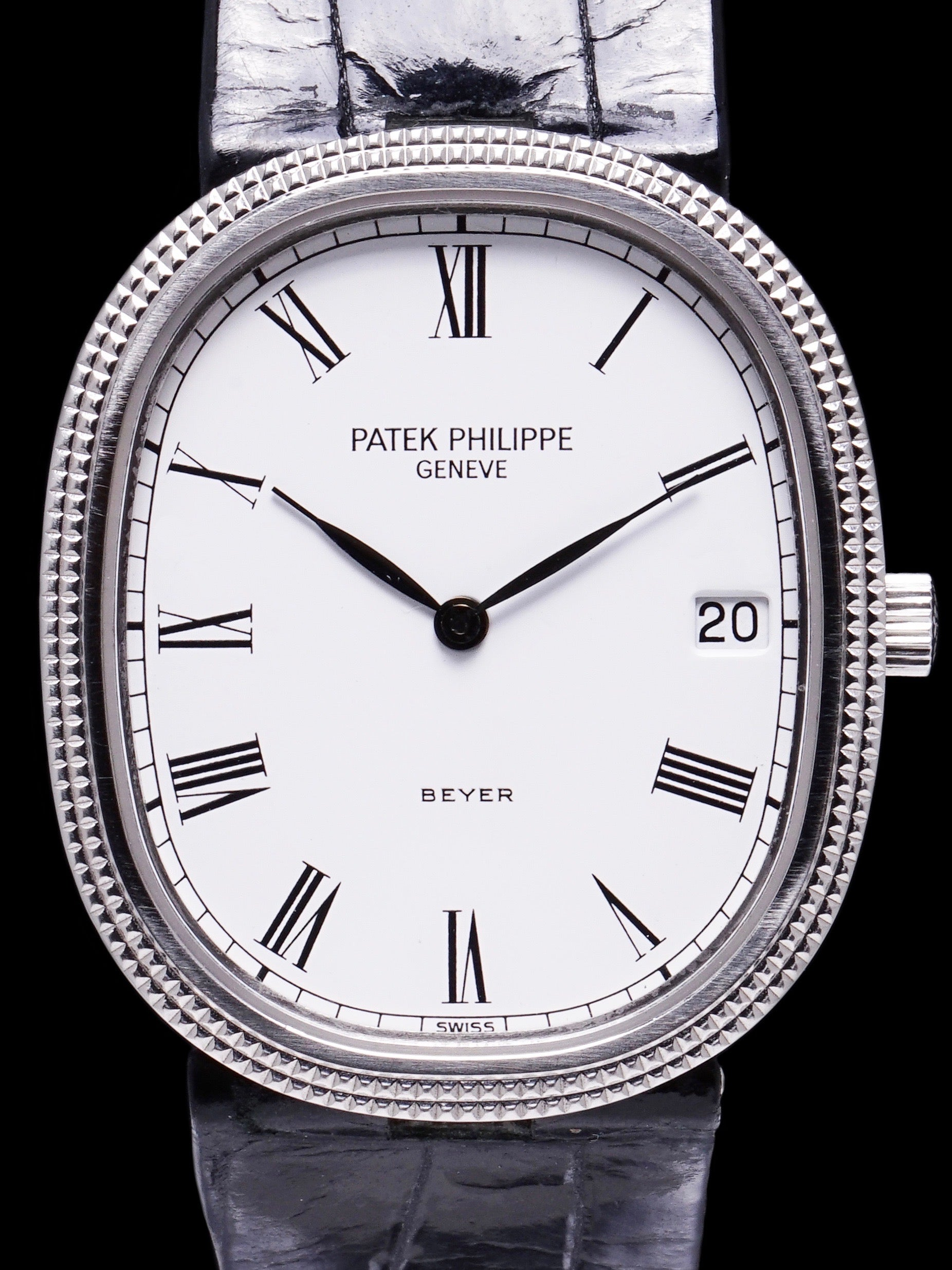 "1986 Stainless Steel Patek Philippe Ellipse (Ref. 3931) ""Beyer"" Cosigned Dial W/ Archive"