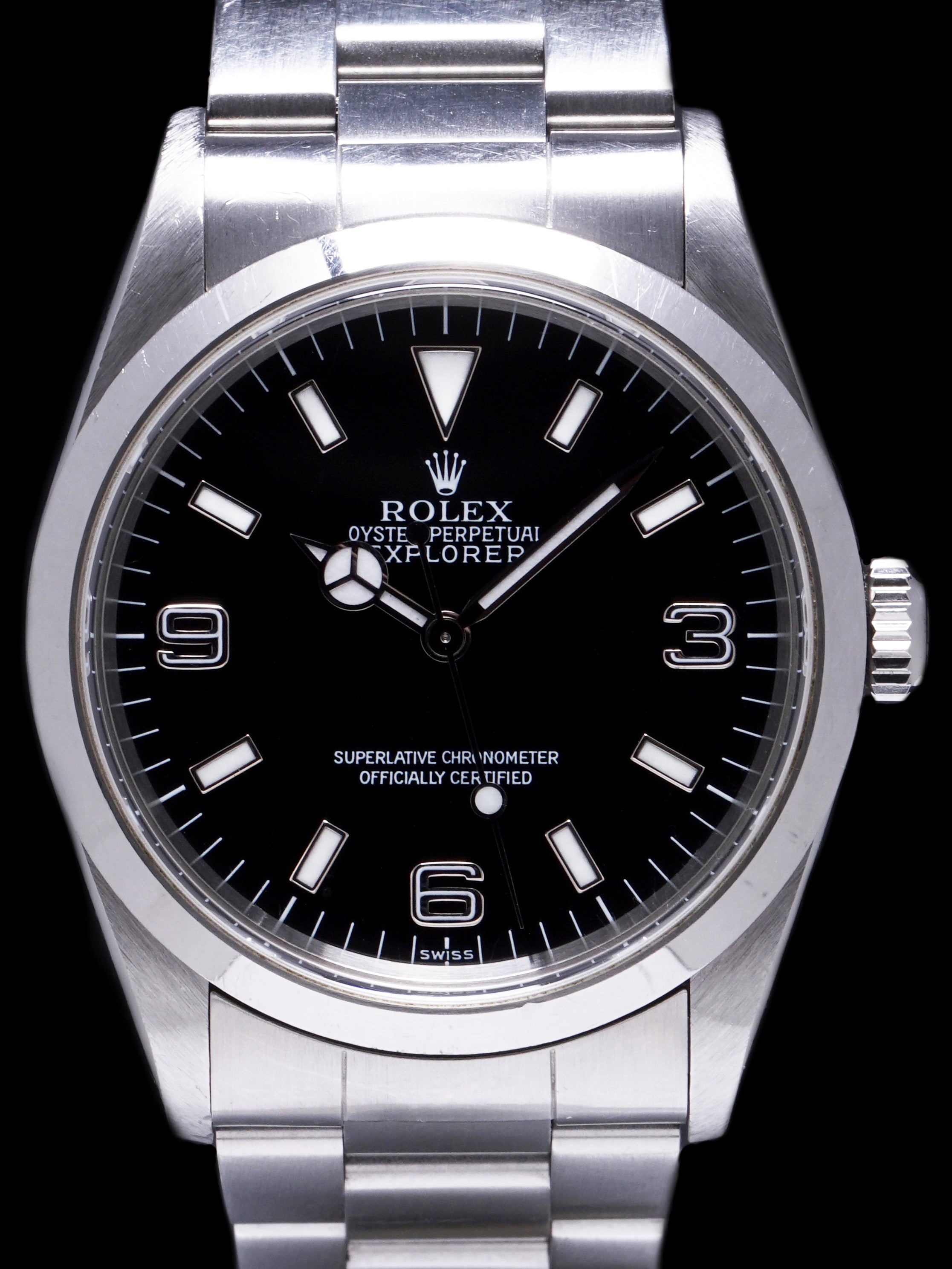 Unpolished 1999 Rolex Explorer I (Ref. 14270) SWISS Only