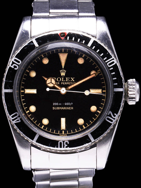 "1958 Rolex Submariner (Ref. 6538) ""Big Crown"""