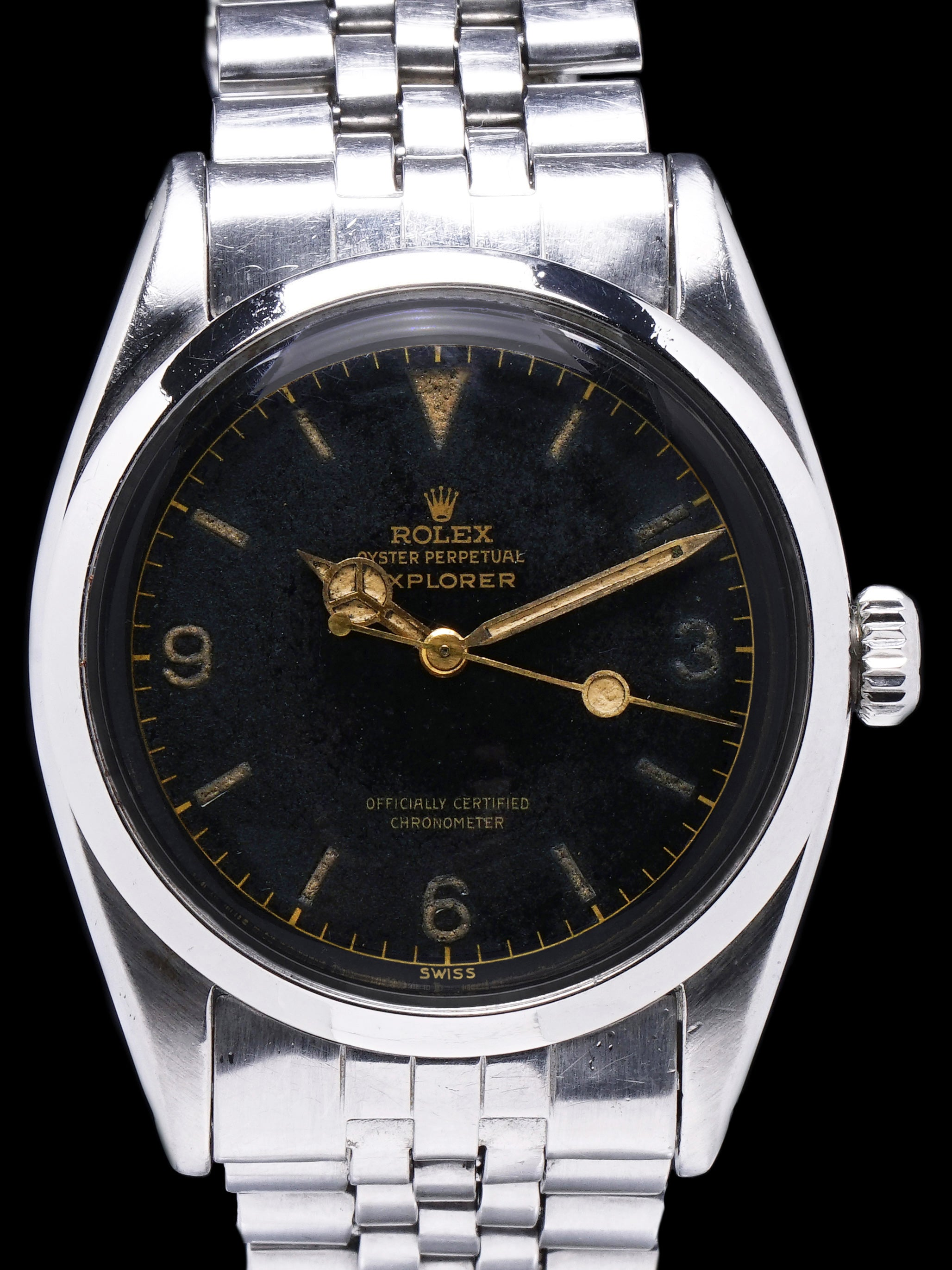 1956 Rolex Explorer I (Ref. 6610) GILT Chapter Ring