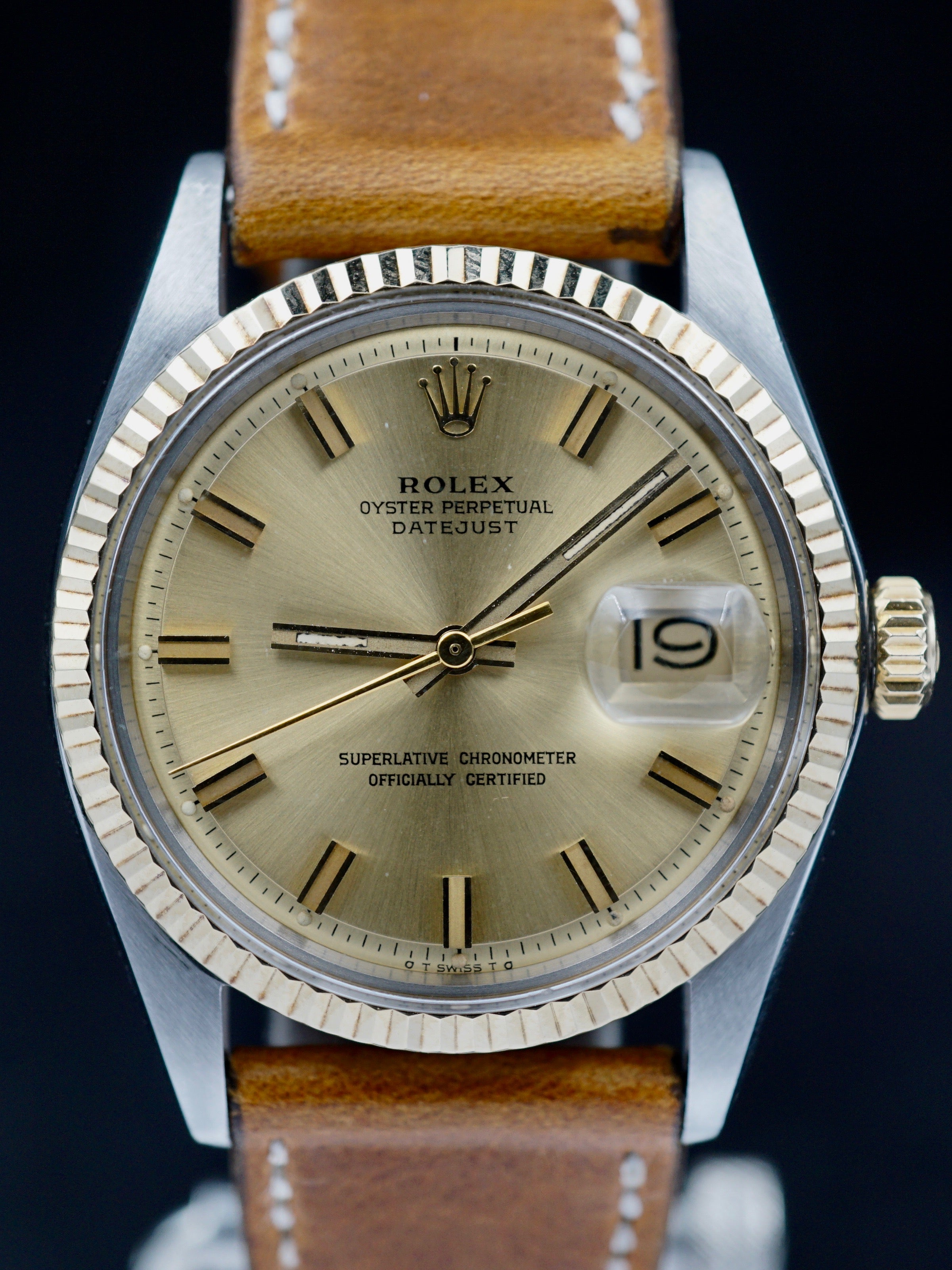 "1973 Rolex Two-Tone Datejust (Ref. 1601) Sigma Dial ""Wide Boy"""
